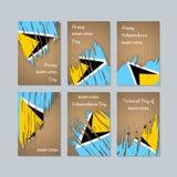 Heilige Lucia Patriotic Cards voor Nationale Dag Royalty-vrije Stock Foto's