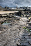 Heilige Malo en Rotsen Stock Foto