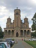 Heilige Marc Cathedral in Belgrado, Servië Royalty-vrije Stock Afbeelding