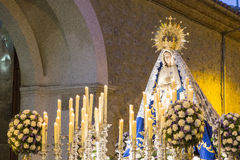 Heilige Maria des Rosenbeetes stockfoto