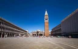 Heilige Mark Square in het vierkant in Venetië, Veneto, Italië Stock Afbeelding