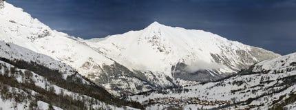Heilige Martin DE Belleville, Haute Savoie Royalty-vrije Stock Foto