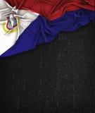 Heilige Martin Flag Vintage op een Zwart Bord van Grunge Royalty-vrije Stock Foto's