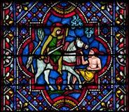 Heilige Martin van het gebrandschilderd glas van Reizen stock fotografie