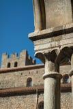 Heilige Mary Abbey in Technologie van Arles sur, zuiden van Frankrijk Stock Foto