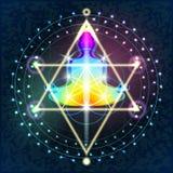 Heilige Meetkunde Boedha vector illustratie