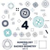 Heilige meetkunde en numerologysymbolen vectorillustratie royalty-vrije illustratie