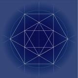 Heilige meetkunde vectorillustratie op technisch document royalty-vrije stock afbeelding