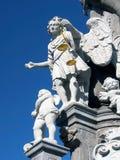 Heilige Michael op pijler in Banska Stiavnica royalty-vrije stock foto