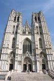 Heilige Michael und Gudule in Brüssel Stockbild