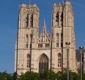Heilige Michael und Gudule in Brüssel Lizenzfreies Stockbild