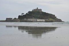 Heilige Michael zet, Cornwall, Engeland, het UK op Stock Foto