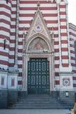 Heilige Moeder van Carmen-kerkdeur Royalty-vrije Stock Afbeeldingen