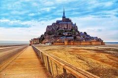 Heilige Mont Michel in Frankrijk, April 2018 royalty-vrije stock afbeeldingen