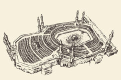 Heilige Moslemskizze Kaaba Mecca Saudi Arabia Lizenzfreie Stockfotografie