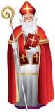 Heilige Nikolaus, Sinterklaas, święty Nicholas royalty ilustracja