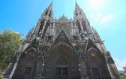Heilige-Ouen Abbey Church is een grote Gotische Roman Catholic-kerk in Rouen, Normandië Stock Foto