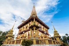 Heilige pagode in chalongtempel royalty-vrije stock afbeeldingen