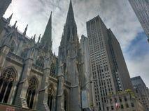 Heilige Patrick Church @ NYC stock foto's