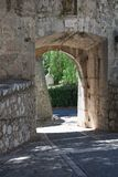 Heilige-Paul-DE-Vence, de afdeling van Alpes Maritimes, Franse Riviera, stock foto's