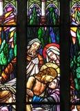 Heilige Peter? s Kathedraal stainded glasvenster Royalty-vrije Stock Foto's