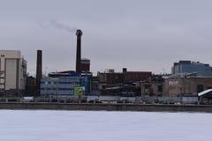 Heilige Petersburg de bouw van de pre-revolutionaire fabriek Stock Foto