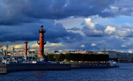 Heilige Petersburg De Oude Beurs van Heilige Petersburg Royalty-vrije Stock Fotografie