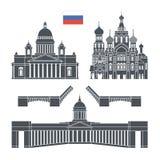 Heilige Petersburg De reeks van Rusland De geïsoleerde architectuur van Rusland op witte achtergrond Royalty-vrije Stock Foto's