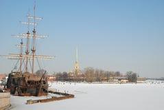Heilige-Petersburg. De vesting van Petropavlovskaya Stock Afbeelding