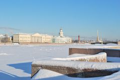 Heilige-Petersburg in de winter Stock Fotografie
