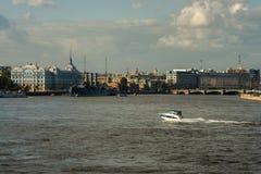 Heilige Petersburg - een mening van de Dageraad Stock Afbeelding