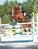 HEILIGE 05 PETERSBURG-JULI: Rider Andrius Petrovas op Zuko S Royalty-vrije Stock Foto