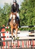 HEILIGE 05 PETERSBURG-JULI: Rider Kristupas Petraitis op Barichela Stock Foto's