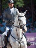 HEILIGE 06 PETERSBURG-JULI: Rider Maxim Kryna op Eiser 37 binnen Royalty-vrije Stock Foto's