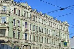 Heilige-Petersburg, Liteyny-Vooruitzicht, huis 12 Voordelig huis van handelaar V I Cherepennikov, gebouwde het jaar van 1902 royalty-vrije stock fotografie