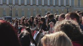 Heilige-Petersburg, Rusland De competities in het powerlifting onder vrouwen stock videobeelden