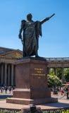 Heilige Petersburg, Rusland - Juni 17, 2017: Monument om Kutuzov voor Kazan Kathedraal te rangschikken Royalty-vrije Stock Fotografie