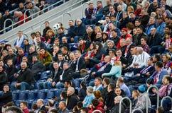 HEILIGE PETERSBURG, RUSLAND - Maart 27, 2018: De ventilators van voetbalrusland Royalty-vrije Stock Foto's
