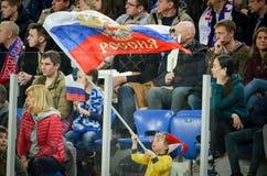 HEILIGE PETERSBURG, RUSLAND - Maart 27, 2018: De Voetbal van Rusland fsns Stock Foto's