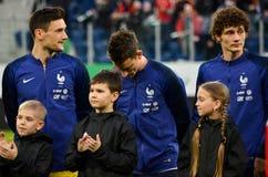 HEILIGE PETERSBURG, RUSLAND - Maart 27, 2018: De Voetbalspel van Frankrijk Royalty-vrije Stock Fotografie