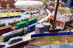 Heilige Petersburg, Rusland - Mei 13, 2017: Fragment Grote Grote Maket Rusland Grote Maket Rusland het wereld` s grootste model Stock Afbeeldingen
