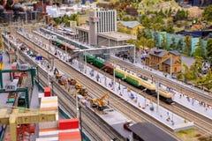 Heilige Petersburg, Rusland - Mei 13, 2017: Fragment Grote Grote Maket Rusland Grote Maket Rusland het wereld` s grootste model Royalty-vrije Stock Foto's