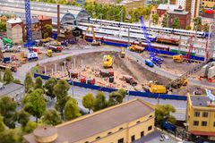 Heilige Petersburg, Rusland - Mei 13, 2017: Fragment Grote Grote Maket Rusland Grote Maket Rusland het wereld` s grootste model Stock Foto's