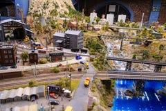 Heilige Petersburg, Rusland - Mei 13, 2017: Fragment Grote Grote Maket Rusland Grote Maket Rusland het wereld` s grootste model Stock Afbeelding