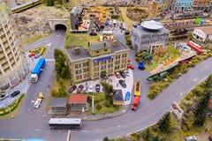 Heilige Petersburg, Rusland - Mei 13, 2017: Fragment Grote Grote Maket Rusland Grote Maket Rusland het wereld` s grootste model Royalty-vrije Stock Fotografie