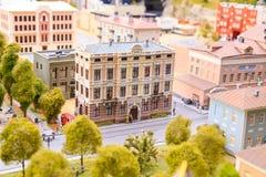 Heilige Petersburg, Rusland - Mei 13, 2017: Fragment Grote Grote Maket Rusland Grote Maket Rusland het wereld` s grootste model Stock Foto