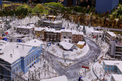Heilige Petersburg, Rusland - Mei 13, 2017: Fragment Grote Grote Maket Rusland Grote Maket Rusland het wereld` s grootste model Stock Fotografie