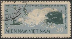 Heilige Petersburg, Rusland - November 27, 2018: Postzegel in Vietnam met het beeld van de overzeese slag wordt gedrukt die vietn royalty-vrije stock foto