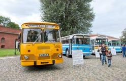 Heilige-Petersburg Rusland Retro Bussententoonstelling Stock Afbeeldingen