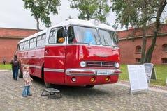 Heilige-Petersburg Rusland Retro Bussententoonstelling Royalty-vrije Stock Fotografie